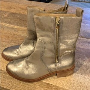 Tory Burch Gold Chelsea Boot